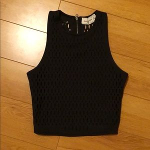 Black Abercrombie and Fitch Crop Top